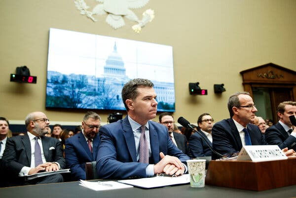 K.C. Crosthwaite, Juul's C.E.O., a former tobacco executive, testifying on Capitol Hill in February 2020.